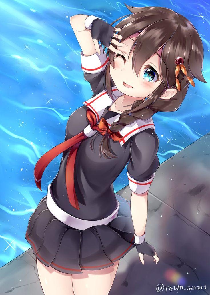 """にゅむ@こみトレ【ク12b】 on Twitter: """"時雨ちゃん描きましたよ~!夏ももう終わりますね #艦これ…"""