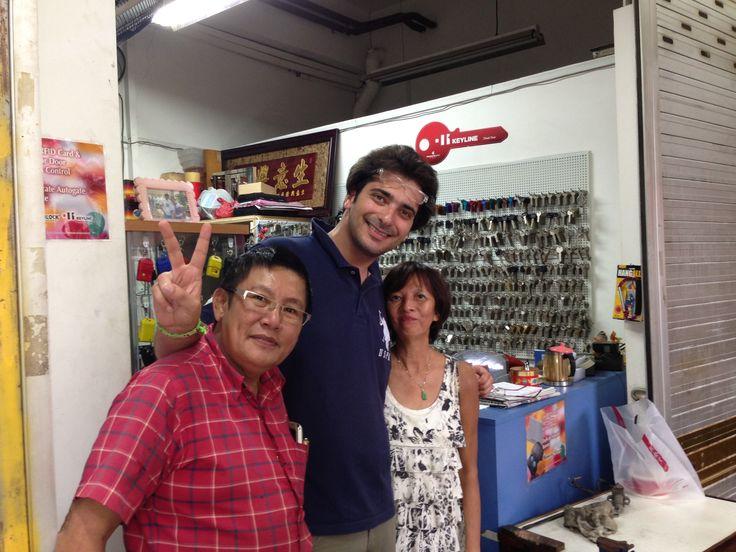 Andrea Ceschin, from #Keyline visiting Chun Seng Locksmith, Singapore.