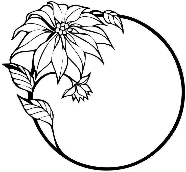 Virágok Fekete-fehér Clip Art