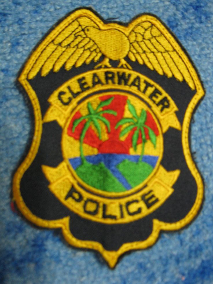 Patch Clearwater Police Department USA Florida Shoulder Flashes Original New Rar