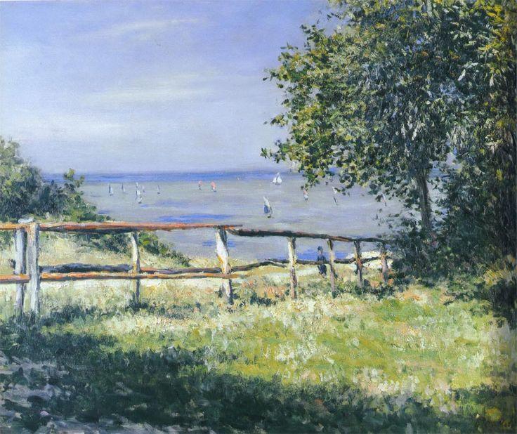 Gustave Caillebotte - Vue de la mer à Trouville