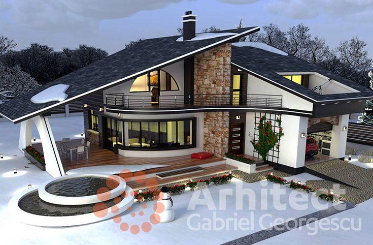 Casa cu etaj 58 | Proiecte de case personalizate | Arhitect Gabriel Georgescu & Echipa