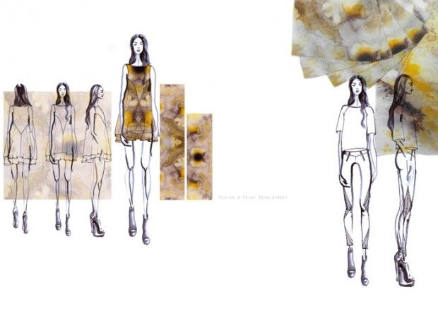 Fashion Sketchbook - fashion design & print development - fashion illustration; fashion portfolio layout // Kelly Wheeler