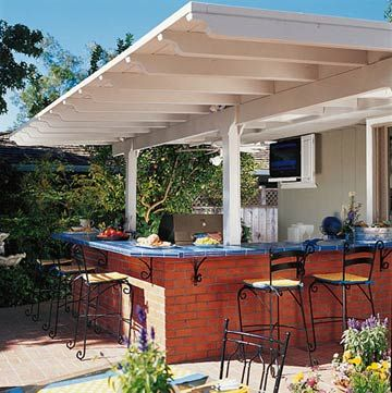 95 best landscaping ideas images on pinterest decks for Outdoor kitchen without grill