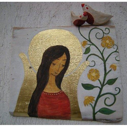 anioł i winorośl - pracownia na deskach