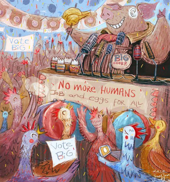 juanbjuan children illustration: job and eggs for all!