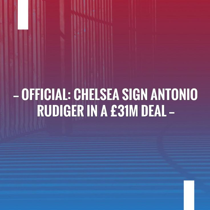 Just posted! Official: Chelsea sign Antonio Rudiger in a £31m deal http://sportstribunal.com/epl-news/transfers-epl/official-chelsea-sign-antonio-rudiger-in-a-31m/?utm_campaign=crowdfire&utm_content=crowdfire&utm_medium=social&utm_source=pinterest