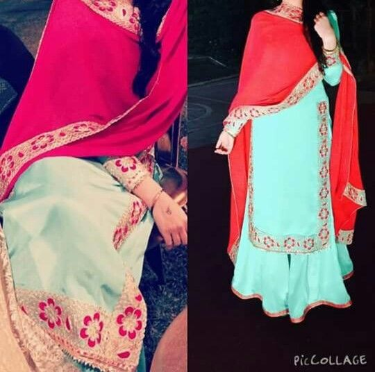 Boutique suit Boutique suit its a beautiful a very good colour combination.. awesome kadai embroidery get it made at @nivetas visit us at https://www.facebook.com/punjabisbotique for order query whatsapp +917696747289 this is going to be made according to your given measurements and your desired colour combination, punjabi salwar suit, punjabi jafa suits, punjabi suit #punjabiJafaSuit #JafaSuit indian Suit outfit