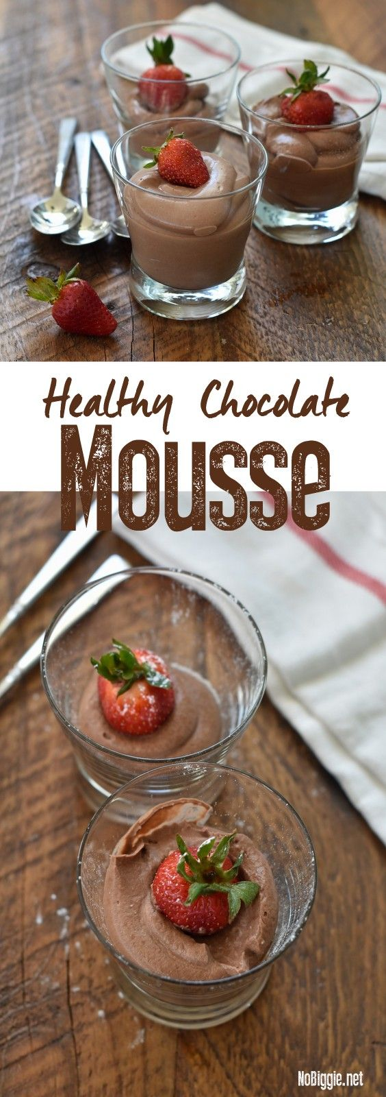 three ingredient healthy chocolate mousse video | NoBiggie.net