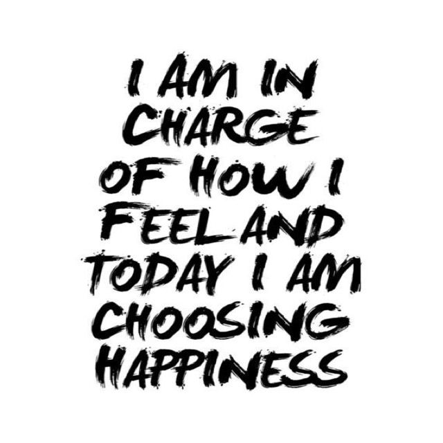 I am in charge of how I feel and today I am choosing happiness. #quote #positive #happiness #affirmation
