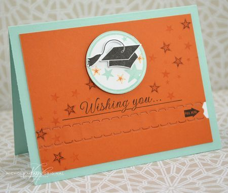 Graduate Zipper Card by Nichole Heady for Papertrey Ink (May 2013)