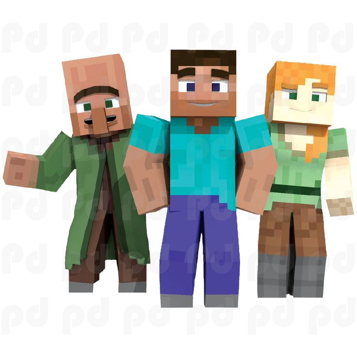 Minecraft Steve And Alex Bedroom Wall Stickers   Minecraft Design Decals   Video Game Wall Decal Part 64