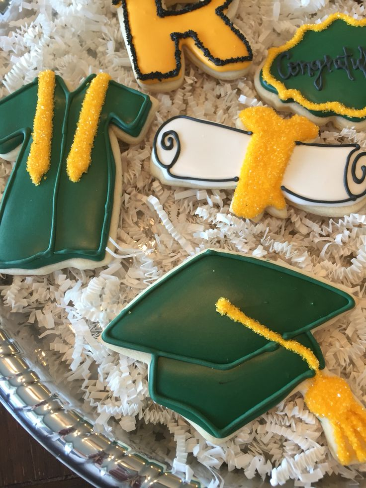 sample open house graduation party invitations%0A Green and Gold graduation cookies  Graduation CookiesGraduation  PartiesGraduation IdeasPicky EatersOpen HouseCongratulationsParty