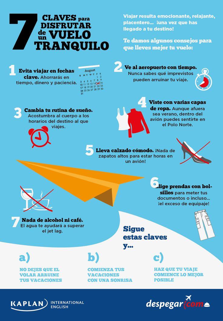 Infografía: Consejos para viajar en avión - Blog de viajes y turismo