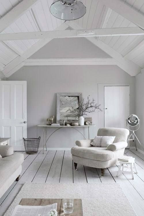 A beautiful white room in the attic. A peaceful sanctuary.