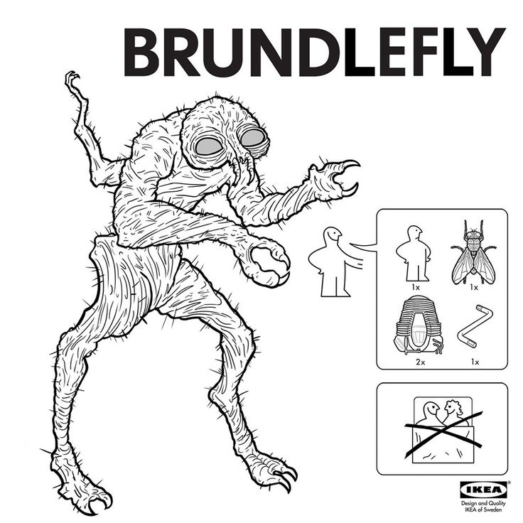 Turn yourself into a Brundlefly with these assembly instructions