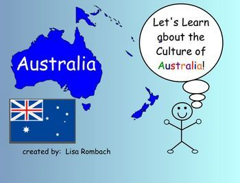 Introduce your students to the culture of Australia with my 20 page SmartBoard lesson!  This lesson includes a lesson plan, interactive pages, link...  Save for international Day.