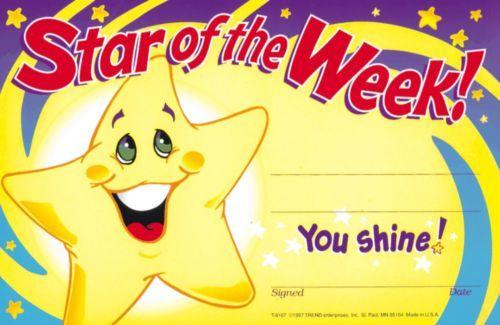 STAR OF THE WEEK AWARD (Pack of 30) - Positive awards for positve learning