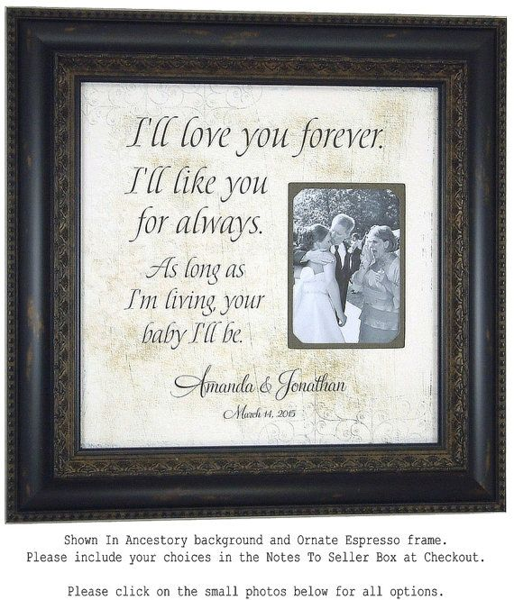 Personalized Picture Frame I'll LOVE YOU by PhotoFrameOriginals
