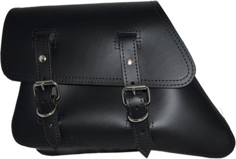 La Rosa Design. 82-03 HARLEY-DAVIDSON XL SPORTSTER LEFT SIDE SOLO SADDLE BAG - BLACK PLAIN