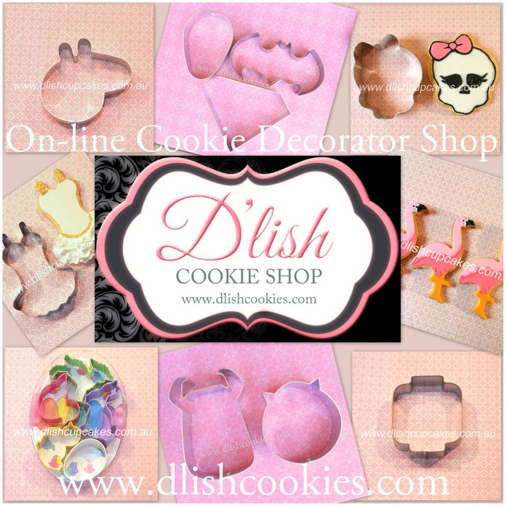 www.dlishcookies.com supply cookie cutters and cookie decorating tools to help you create your own cookie creations. Specialising in hard to find cookie cutter designs and designing tips and tricks.