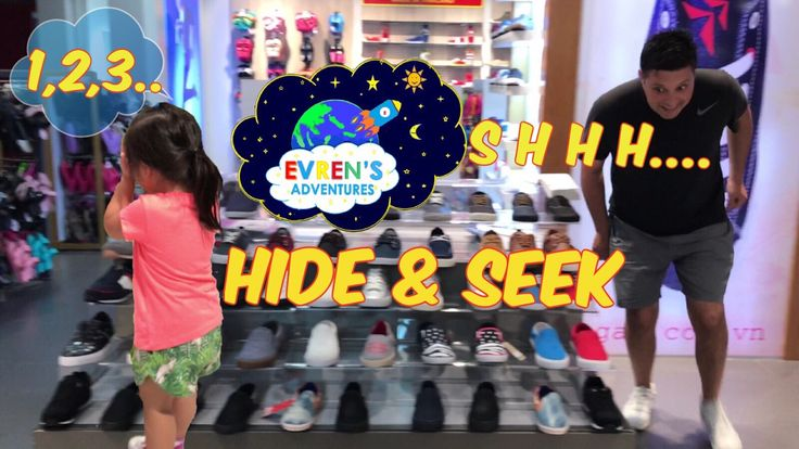 Family Fun Playtime Kid Playing Hide N Seek Shopping Trip  Fun Playtime Evren Adventures Family Review. During Evren  Family shopping trip in Saigon, Evren pretend playing hide and seek inside the sport store with Daddy. Hide and Seek is such a fun game to play as a family!