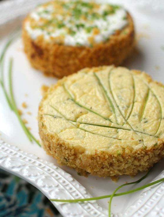 Savory Sour Cream Chives Cheesecake with Potato Chip Crust