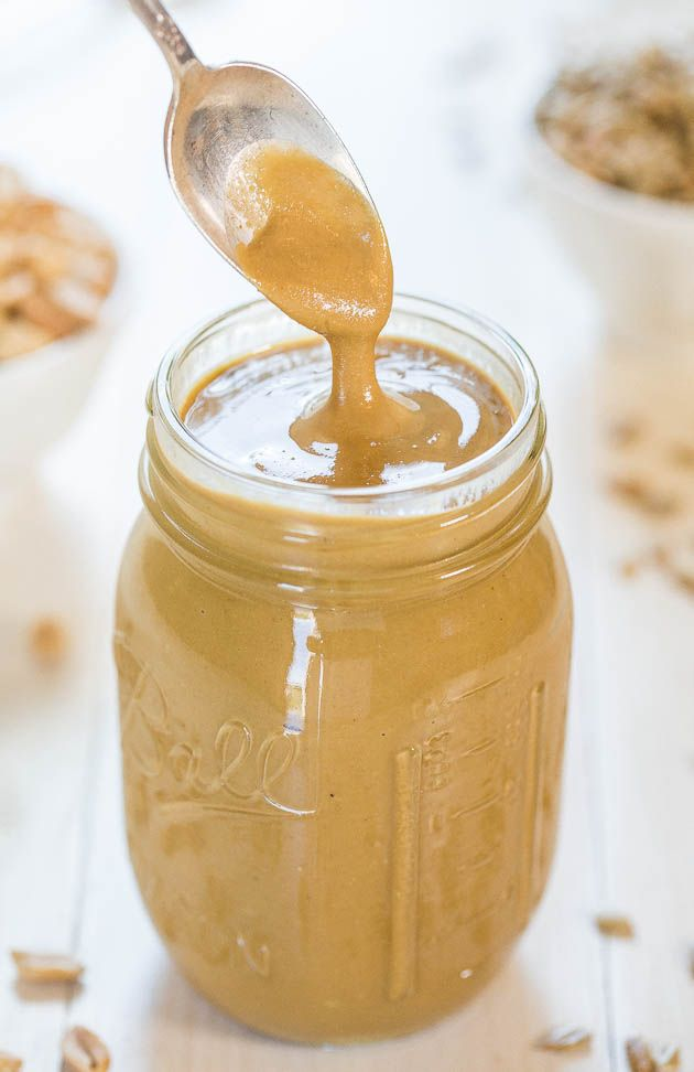 Sunflower Seed Peanut Butter - Creamy, velvety smooth and irresistible! You'll want to dip your spoon into the jar until it's gone!