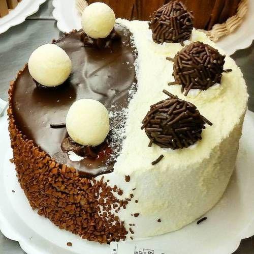 Torta de Brigadeiro com Leite Ninho #tortaspolos (em Polos Pães e Doces)