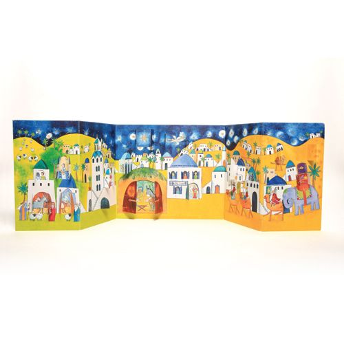 ADV26 Nativity Advent Calendar by Phoenix Trading. Pop open a window to see what is behind. Only £7.50 and can be ordered at www.nichola.cards