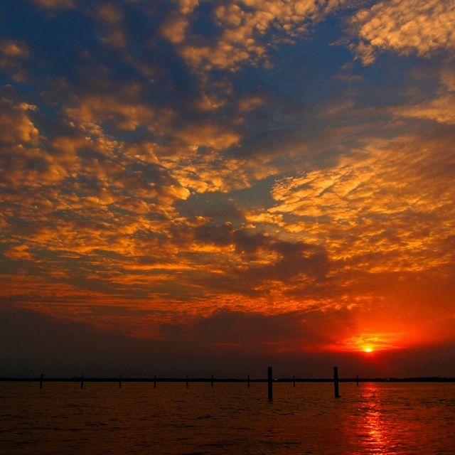 Sunset in Port Klang