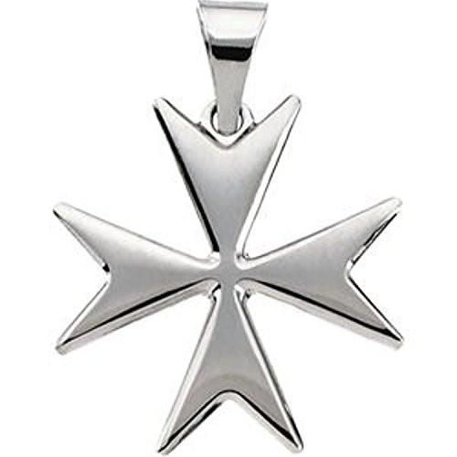 Sterling Silver Maltese Cross Pendant with Packaging