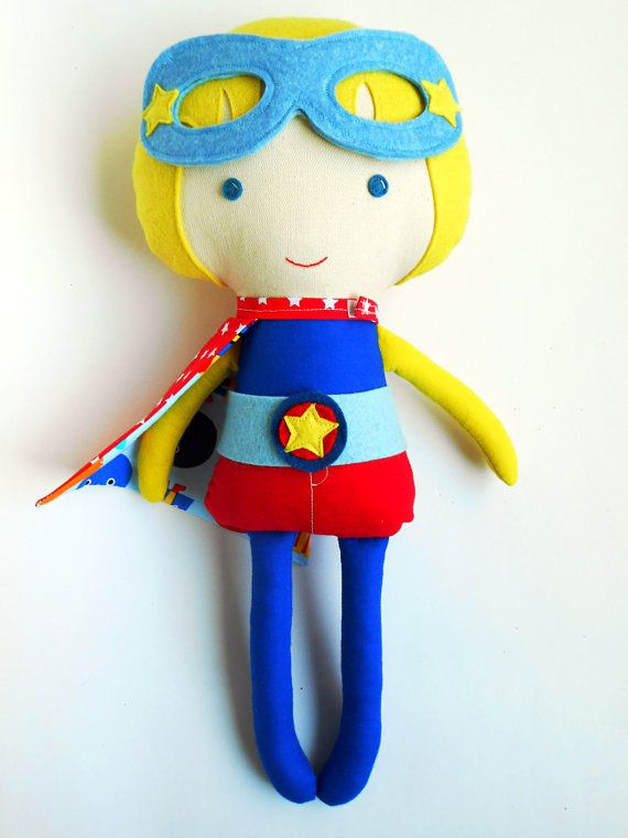 Super hero blond boy doll superhero doll can be by LaLobaStudio