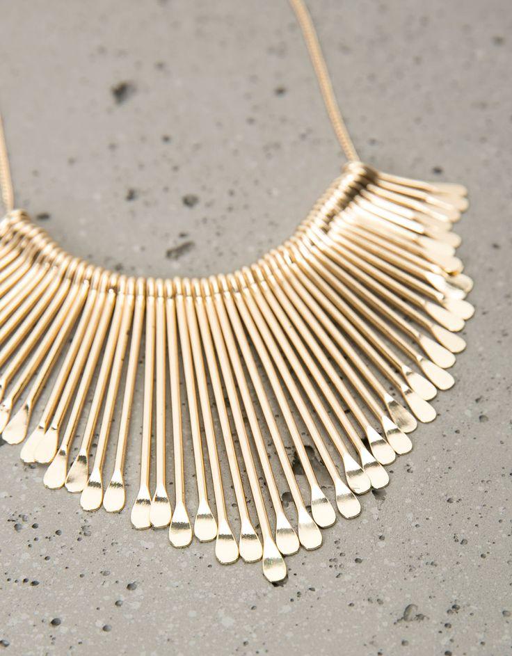 Collar flecos dorados - Bisutería - Bershka España