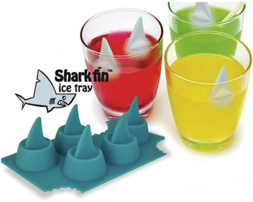 Cool: Fin Ice, Sharks Fin, Ice Cubs, Ice Trays, Pools Parties, Sharks Week, Sharkfin, Kid, Ice Cubes Trays