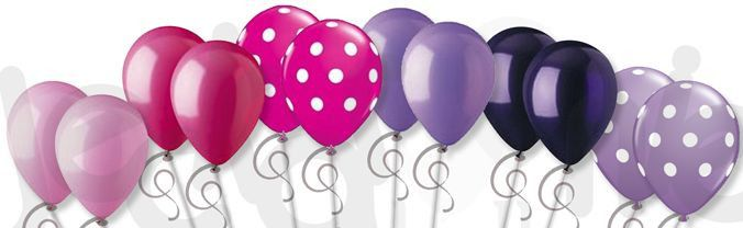 Beautiful Pink & Purple Polka Dots Latex Balloons