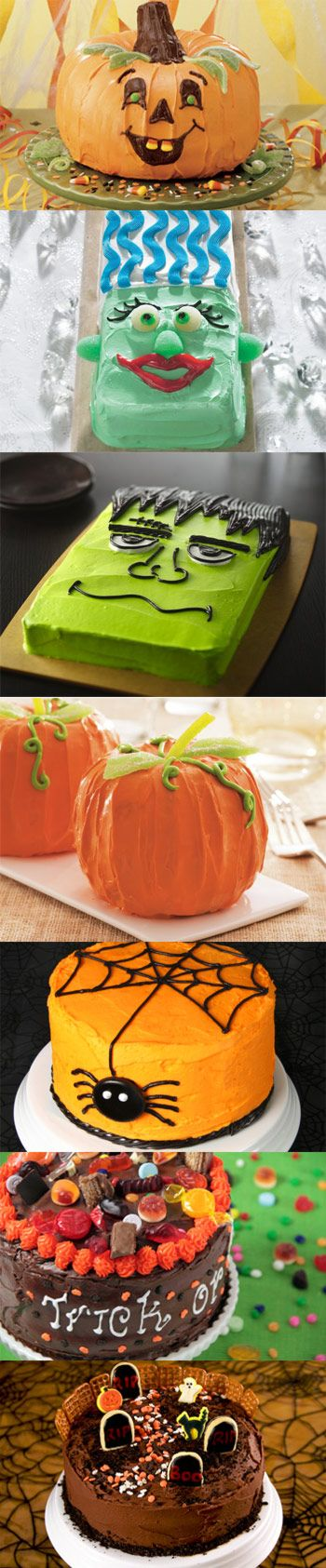 Halloween Cakes! i love the frankenstein for the fall festival cake walk at grays school since i did the spider last year!