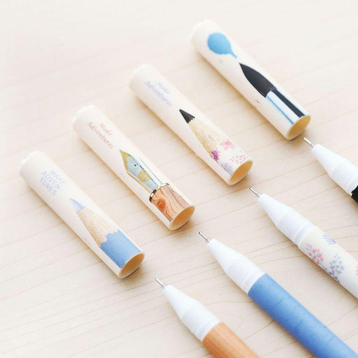 Aihao Симпатичные Kawaii 0.5 мм Карандаш Стиль Черный Синий Гелевые Ручки Для…