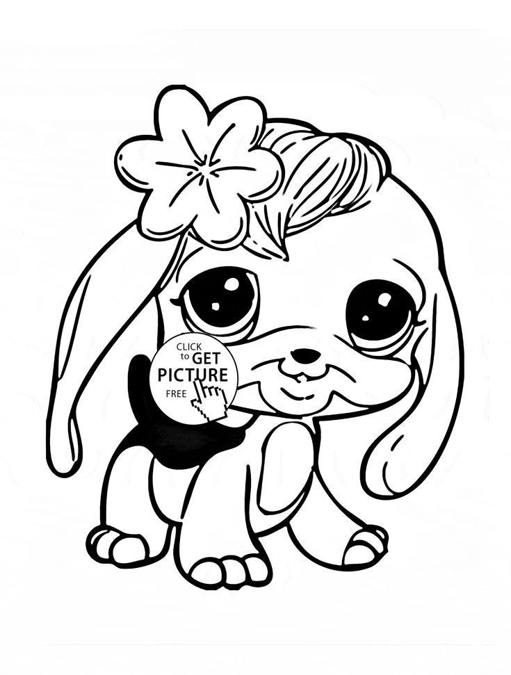 Littlest Pet Shop Panda coloring page for kids animal
