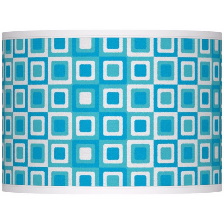 Blue Boxes Giclee Glow Lamp Shade 13.5x13.5x10 (Spider) - Style # 37869-U1715