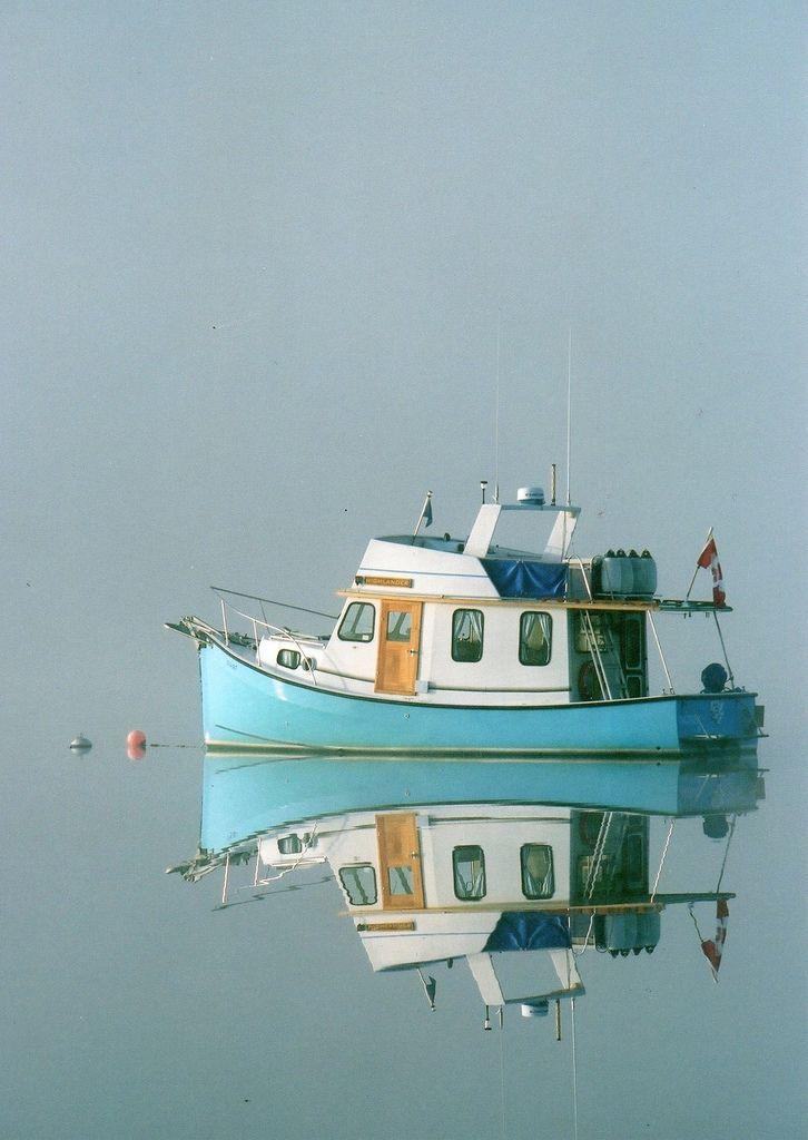 pretty little trawler (Lake Bras D'Or, Baddeck, Nova Scotia, by alison)
