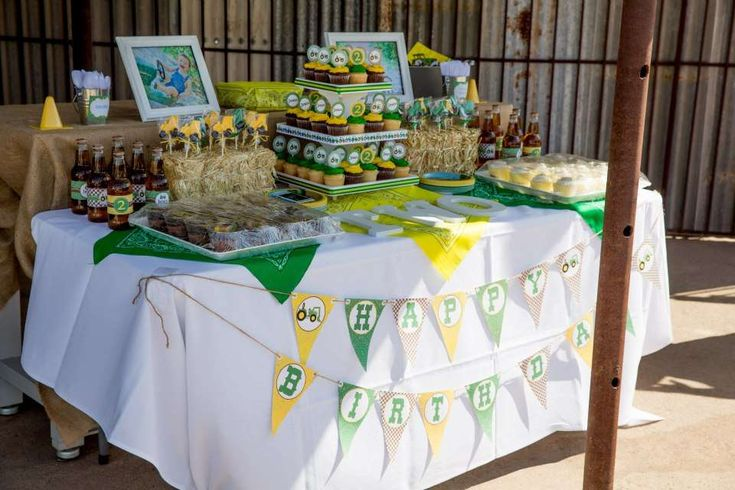 John Deere Inspired 2nd Birthday | CatchMyParty.com