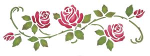 Stencil Details for Rose Border - qcl132-13