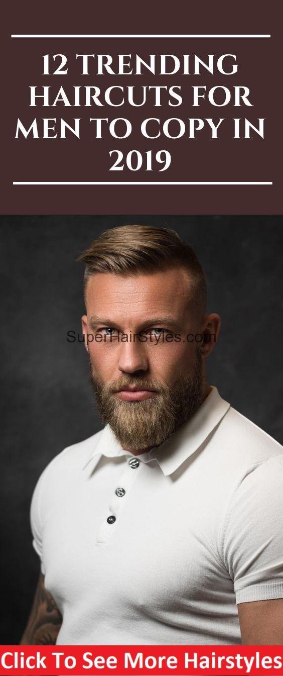 12 Trend-Frisuren für Männer zum Kopieren im Jahr 2019 #menhair #hairstyle #men #hair #me