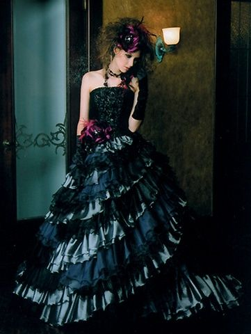 478 best images about gothic 1 woman on pinterest for Black gothic wedding dress