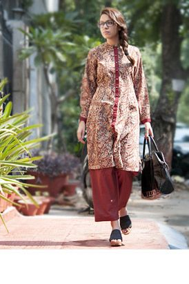 Buy Qalamkari by Jaypore Kalamkari Printed Cotton Kurtas, Dresses, Tops and Pants Online at Jaypore.com
