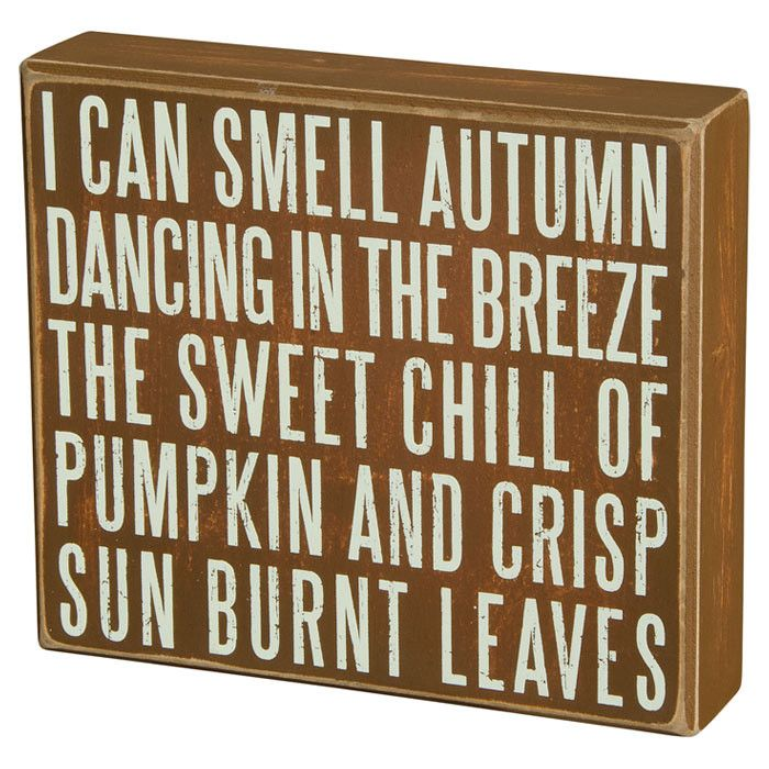 I can smell autumn...