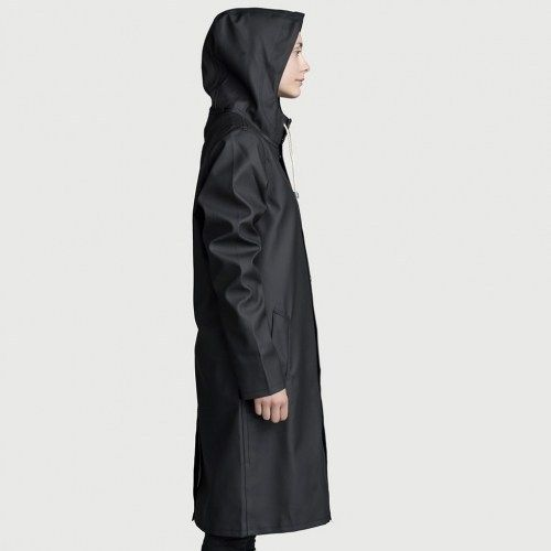 Stockholm Long Black Raincoat – Stutterheim Raincoats
