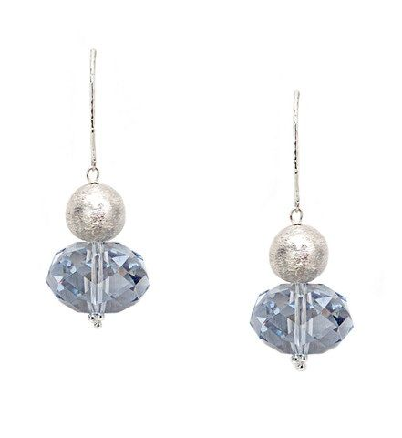 Light Blue Crystal Earrings - Ottawa Jewelry Store
