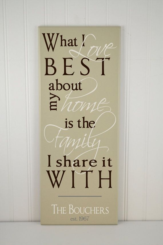 wood quote sign what i love most about my home is who i share it - Home Decor Quotes